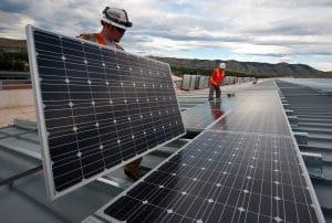 Bild einer Photovoltaik-Anlage